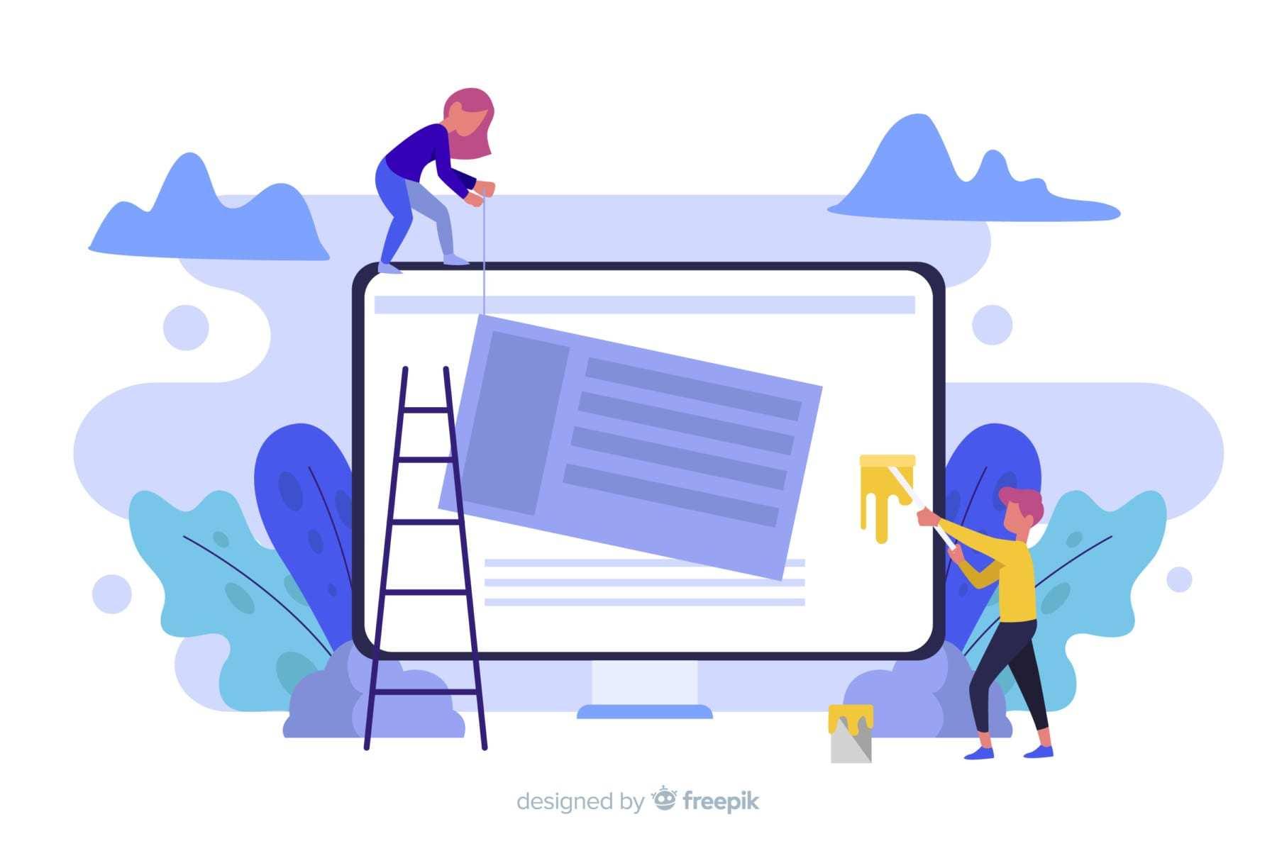 Hva designes websidene